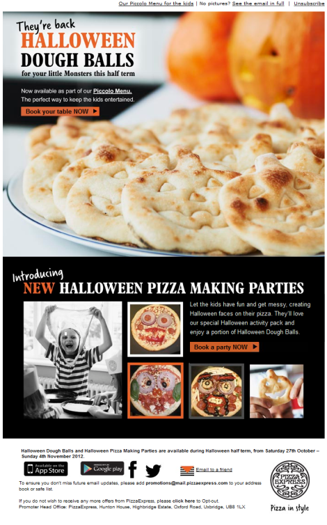 Pizza Express Halloween