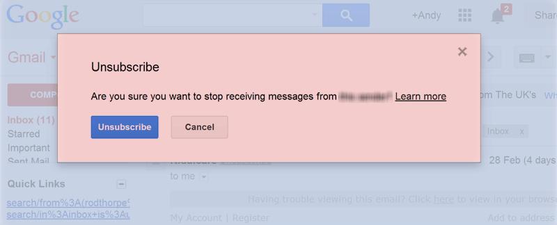 Gmail Unsub